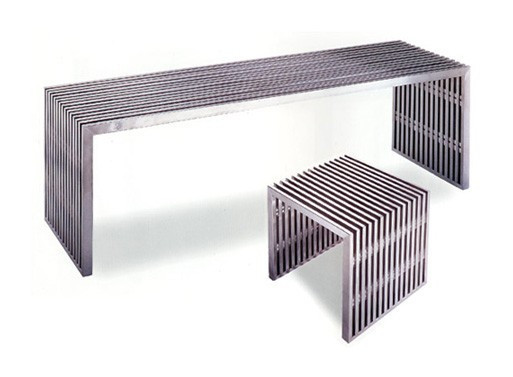 Zeta Stainless Steel Bench Long