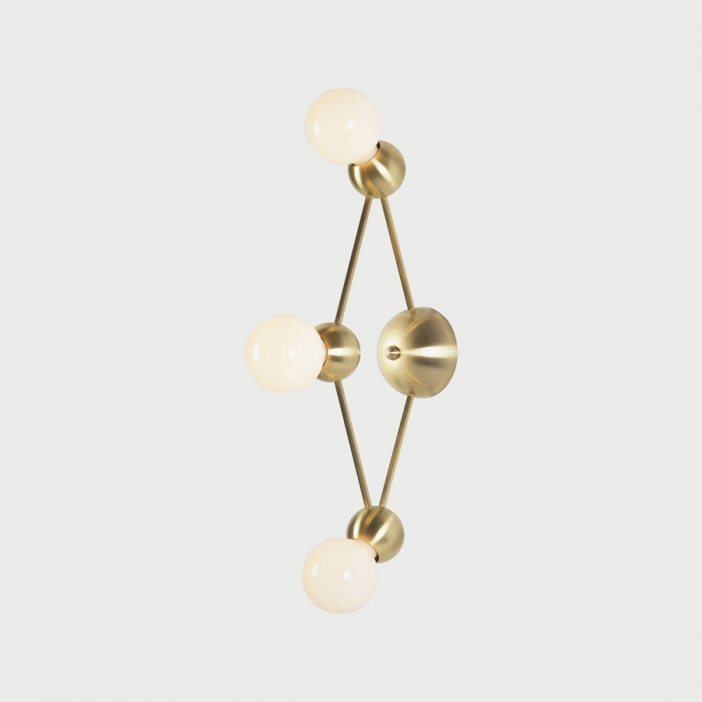 Lina 03-Light Diamond Sconce