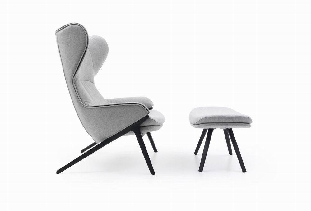 P22 Armchair and Ottoman