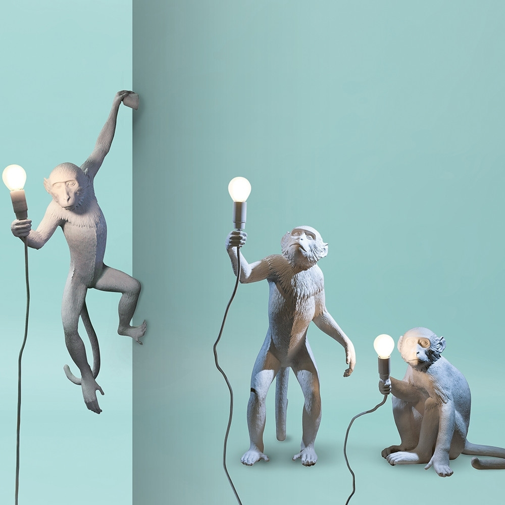 Monkey wall lamp