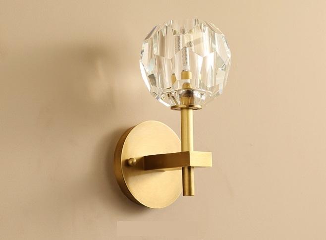 Crystal Rose Wall Lamp