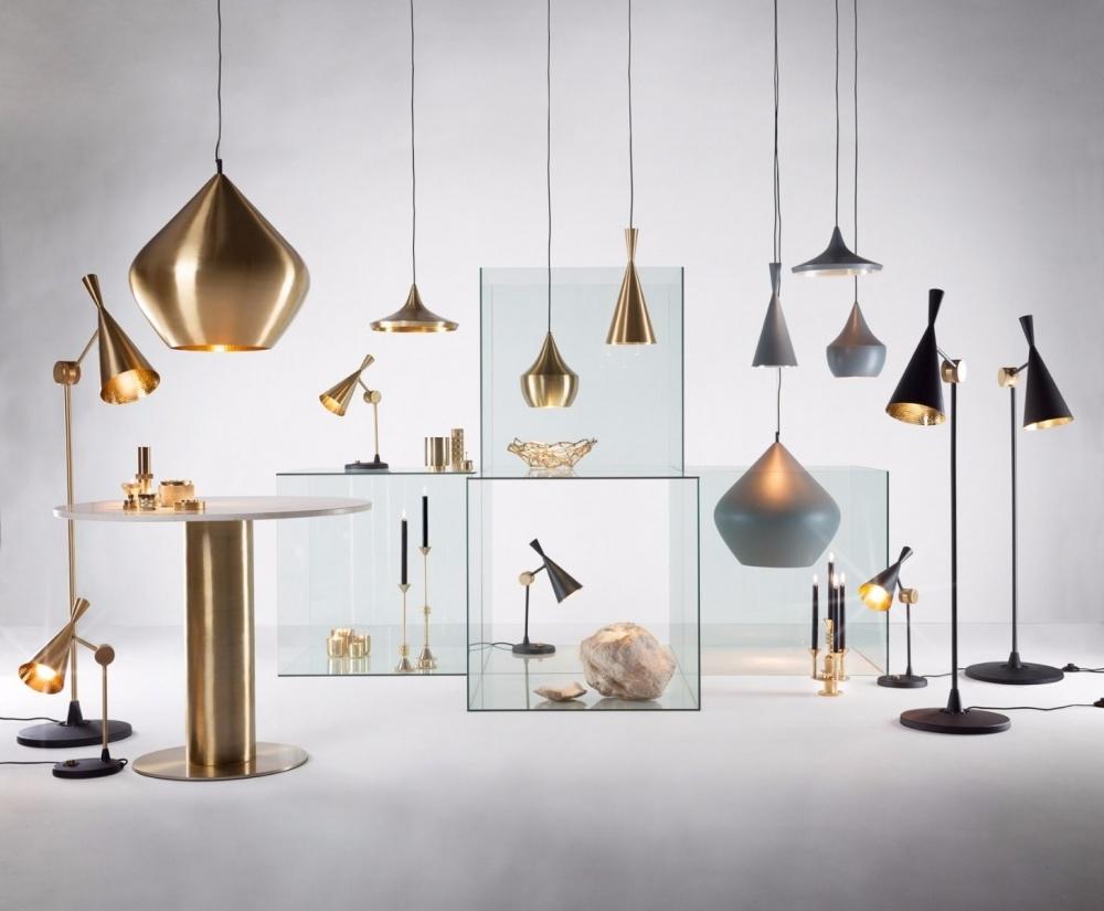 Beat Light Wide Pendant Lamp (Gold)