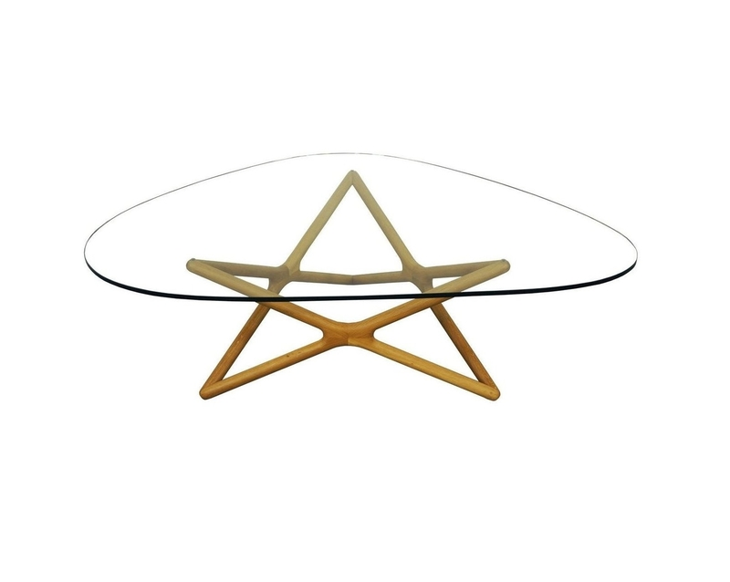 Vintage Geometric Glass Coffee Table