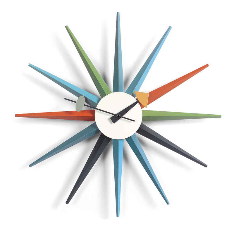 Дизайнерские часы George Nelson Sunburst Clock Multicolor