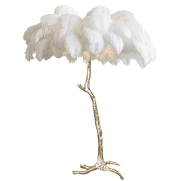 Palm Feather Floor Lamp
