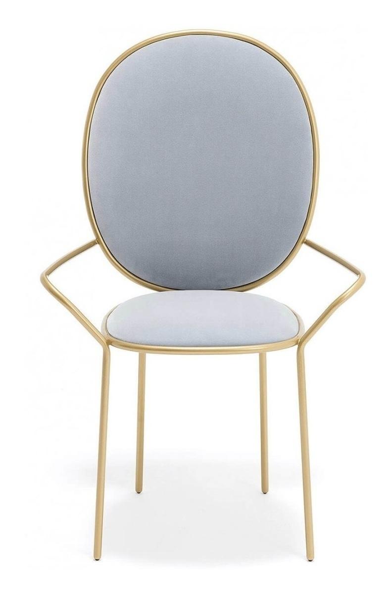 Stay Dining Armchair (голубой / мятный вельвет)