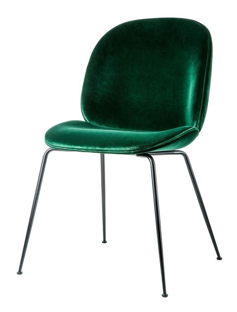 Gubi Beetle Chair (зеленый  вельвет)