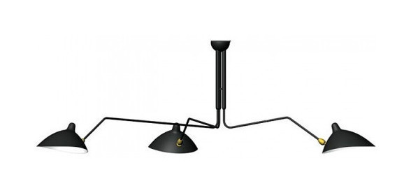 Serge Mouille Bras Pivotants Lamp 3 Arms