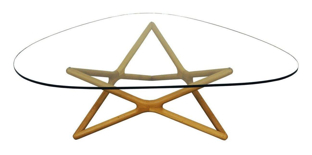 Vintage Geometric Glass Coffee Table