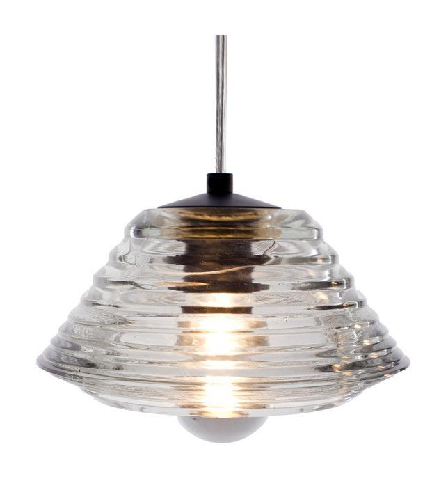 Pressed Glass Bowl Pendant Lamp