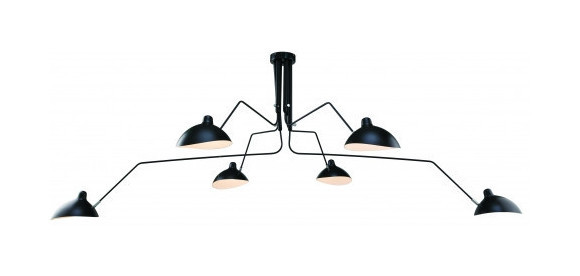 Serge Mouille Bras Pivotants Lamp 6 Arms