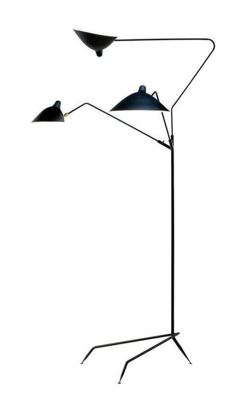 Serge Mouille 3 Arm Floor Lamp