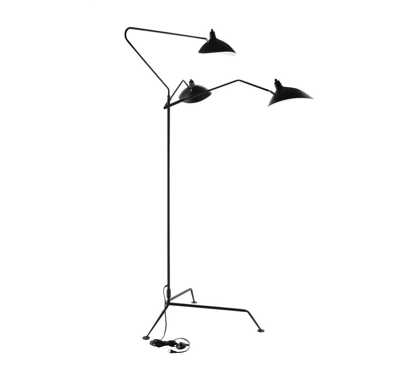 Дизайнерский торшер Serge Mouille 3 Arm Floor Lamp